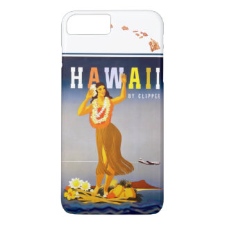 Vintage Hawaii Hula Art Hawaiian Islands Map iPhone 7 Plus Case