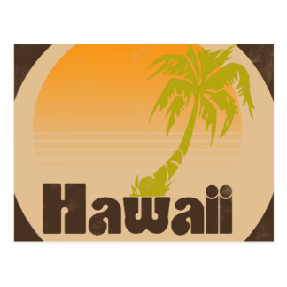 Vintage Hawaii Logo Postcard