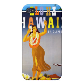 Vintage Hawaii Travel Advertisement Covers For iPhone 4