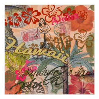 Vintage Hawaii Travel Colorful Hawaiian Tropical