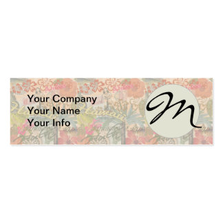 Vintage Hawaii Travel Colorful Hawaiian Tropical Double-Sided Mini Business Cards (Pack Of 20)
