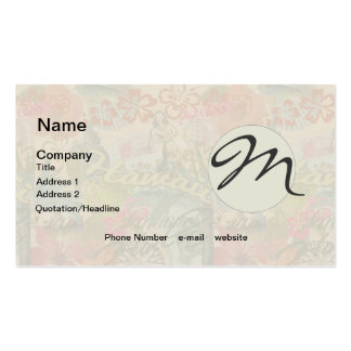 Vintage Hawaii Travel Colorful Hawaiian Tropical Double-Sided Standard Business Cards (Pack Of 100)