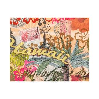 Vintage Hawaii Travel Colorful Hawaiian Tropical Canvas Prints