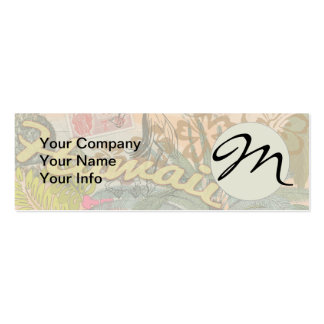 Vintage Hawaii Travel Colorful Hawaiian Tropical Pack Of Skinny Business Cards