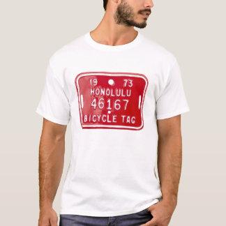 Vintage Hawaiian bicycle license plate tee shirt