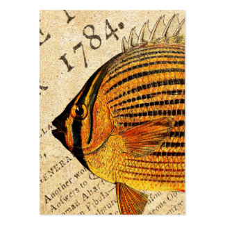 Vintage Hawaiian Butterfly Fish Customized Fishes Pack Of Chubby Business Cards