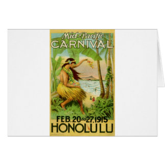 Vintage Hawaiian Travel Card