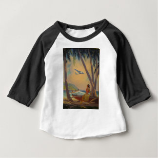 Vintage Hawaiian Travel - Hawaii Girl Dancer Baby T-Shirt