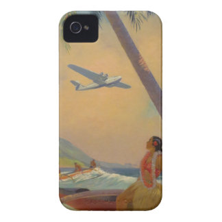 Vintage Hawaiian Travel - Hawaii Girl Dancer iPhone 4 Cover