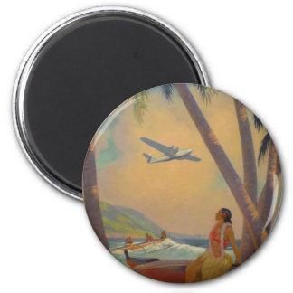 Vintage Hawaiian Travel - Hawaii Girl Dancer Magnet