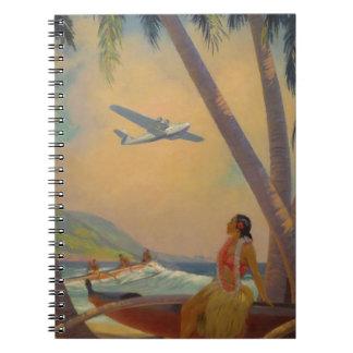 Vintage Hawaiian Travel - Hawaii Girl Dancer Notebook