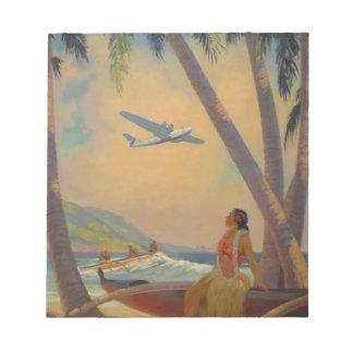 Vintage Hawaiian Travel - Hawaii Girl Dancer Notepad