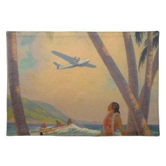 Vintage Hawaiian Travel - Hawaii Girl Dancer Placemat