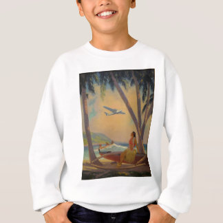 Vintage Hawaiian Travel - Hawaii Girl Dancer Sweatshirt