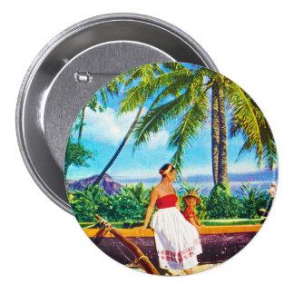 Vintage Hawaiian Vacation 7.5 Cm Round Badge