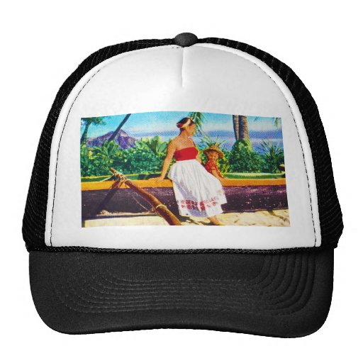 Vintage Hawaiian Vacation Trucker Hat