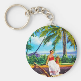 Vintage Hawaiian Vacation Key Chains