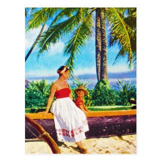 Vintage Hawaiian Vacation Postcard