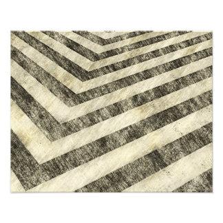 Vintage Hazard Stripes Art Photo