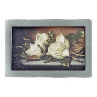 Vintage Heade Magnolia Flowers Floral Belt Buckle