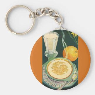 Vintage Health Foods, Beverages, Healthy Breakfast Key Chains