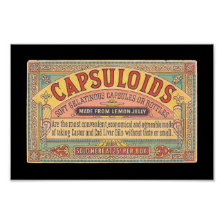 Vintage Health & Medicine: Capsuloids Ad on Poster