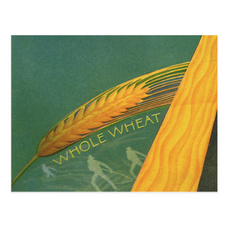 Vintage Healthy Foods, Whole Grain Wheat Bread Postcard