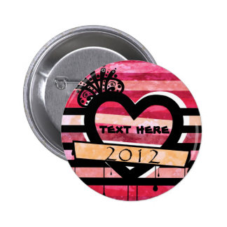 vintage heart 2012 pin