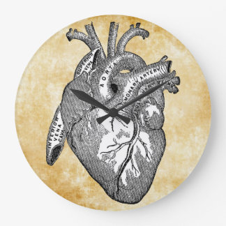 vintage heart anatomy clocks