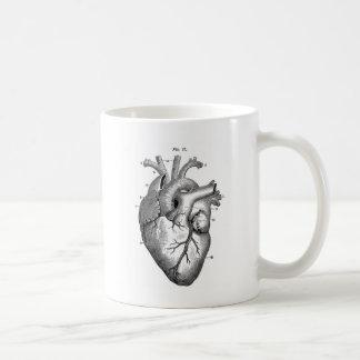 Vintage Heart Anatomy | Customizable Coffee Mug