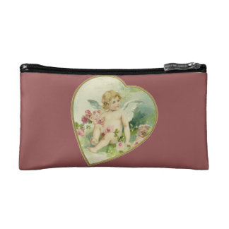 Vintage Heart and Cherub - Mother's Day/Valentine Cosmetic Bag