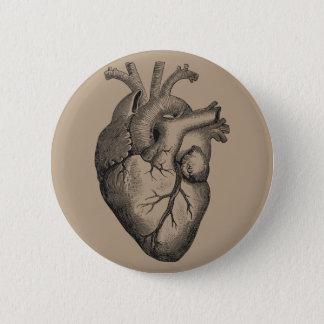 Vintage Heart Illustration 6 Cm Round Badge