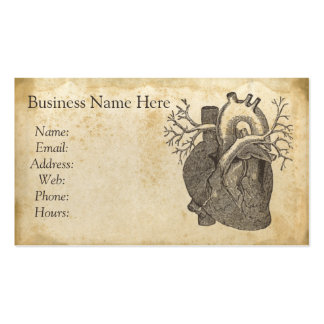 Vintage Heart Illustration Business Card
