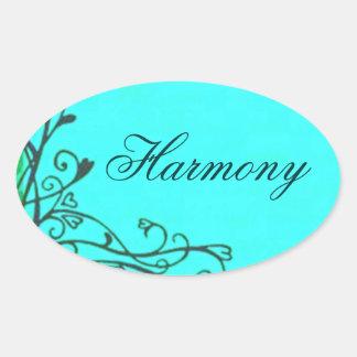 Vintage Heart Vines Teal Harmony Sticker