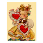 Vintage Hearts Sweetheart Post Card