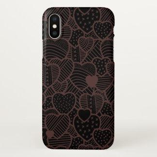 Vintage Hearts Valentine's Day iPhone X Case