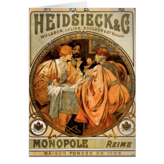 Vintage Heidsieck & Co Monopole Reims Wine Label Card