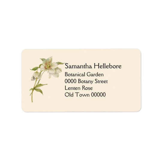 Vintage hellebore address label