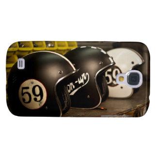 Vintage Helmet Motorcycle Galaxy S4 Cases