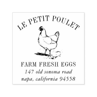 Vintage Hen | Country Farm Address Self-inking Stamp