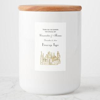 Vintage Heraldic Castle #2 Crest Faux Gold Food Label