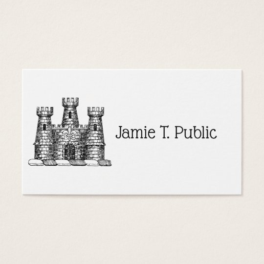 Vintage Heraldic Castle Emblem Coat of Arms Crest Business Card