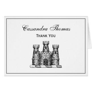 Vintage Heraldic Castle Emblem Coat of Arms Crest Card
