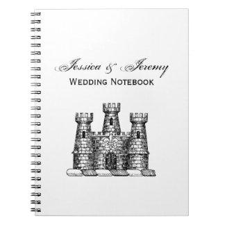 Vintage Heraldic Castle Emblem Coat of Arms Crest Notebook