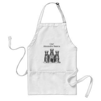 Vintage Heraldic Castle Emblem Coat of Arms Crest Standard Apron