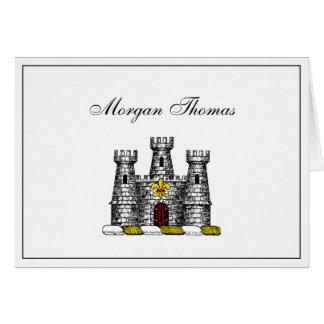 Vintage Heraldic Castle Emblem CoatofArms Crest C Card