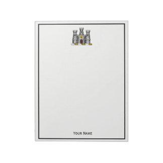 Vintage Heraldic Castle Emblem CoatofArms Crest C Notepad