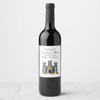 Vintage Heraldic Castle Emblem CoatofArms Crest C Wine Label