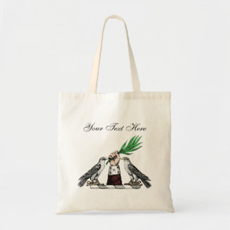 Vintage Heraldic Falcons With Hand Crest Emblem Tote Bag