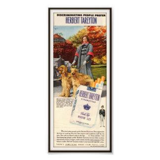 Vintage Herbert Tareyton Advertising 1954 Photo Art
